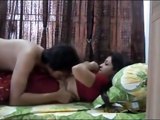 Indian duo having sultry orgy in their bedchamber