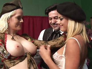 Highly Interesting Rectal 3Some Hook-Up Connected with Whorey Blondes