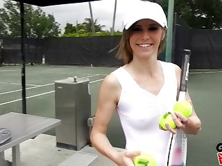 Tennis player Ella Woods gets her pussy plowed after her equalize