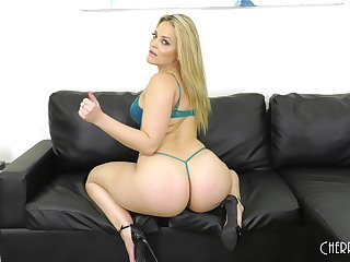 Solo blonde MILF model Alexis Texas strips added to plays relating to toys