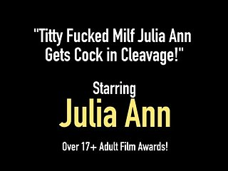 Boob Fucked Milf Julia Ann Gets Cock in Cleavage!