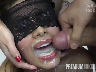 Munificence Bukkake - Victoria swallows 81 big mouthful cumloads