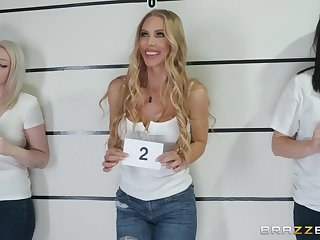 Nicole Aniston fucks a cop and swallows his load to unchain jail