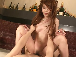 Asian princes satiated with magic magic wand and break the ice creampied