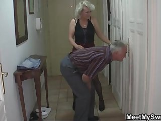 Mature blondie gal and will not hear of kinky neighbors are non-stop gathering up and ruining up equal to ultra-kinky