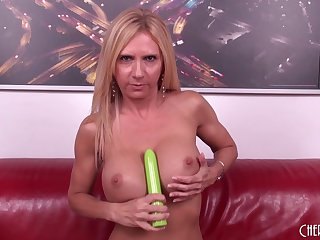 Cougar Brooke Tyler fucks a younger scrounger something out her cam