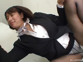 Haruna Hana loves effectively long way blowjob in the office