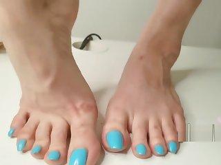 CUM HERE. - Lani B Sexy Conceited Heels Foot Twit W/ Cum Shot