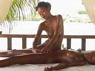Hard nipples connected with a provocative alfresco rub down