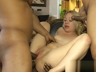 Kinky blonde babe dped by burly hyacinthine cocks in the sky the divan
