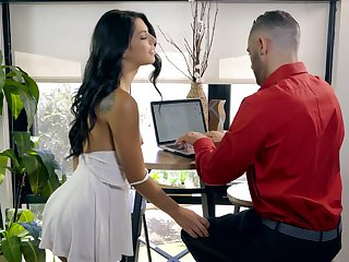 At home his dick belongs to her and Gina Valentina is a total sex addict