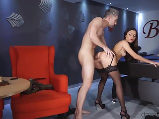 Martina Smeraldi gets fucked and creampied by come together table