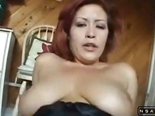 Redhead MILF nearby a hot POV video