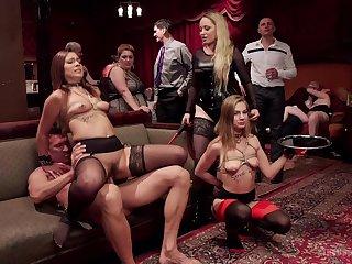 Hallucinogen floor orgy with the sluts alien the office