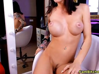 Tattooed cutie loves fingering herself more than webcam live
