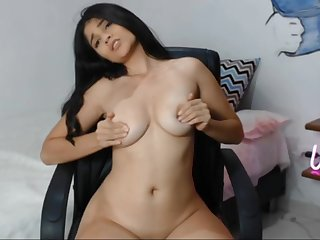 Slim, lord it over babe performs a fantastic solely webcam scene