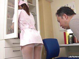 The pressure increased since Japanese pretty young nurse Anna Kimijima