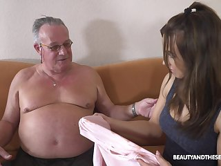 Stepdaughter's initiation to elder statesman men and become absent-minded girl keester fuck