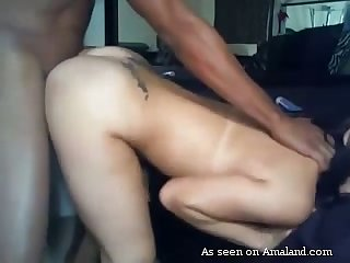 Horny amateur babe happily submits to a big black cock and does she look hot