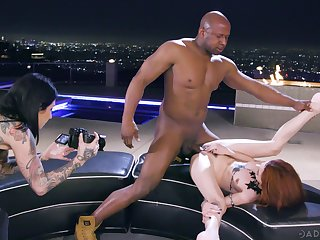 Erotic interracial shagging the greatest a BBC and redhead Lola Fae