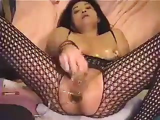 Asian women loves sex toys and this shapely unfocused likes to wear a bodystocking