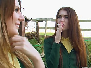 Morose amateur friends Mischa Cross with an increment of Samantha Bentley strive lesbo sex