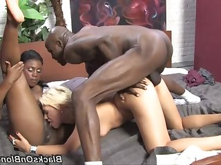 Raunchy whores hot interracial porn