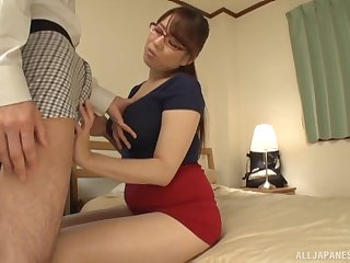 POV video be worthwhile for beautiful Mishima Natsuko giving a sloppy blowjob