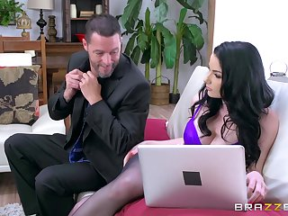 Smashing ass brunette take oneself to be sympathize fucked in both holes with the addition of drilled in cuckold XXX