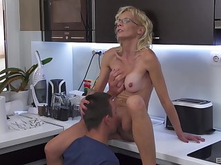 Mature pleases nephew with a brand-new cunt that feels so tight