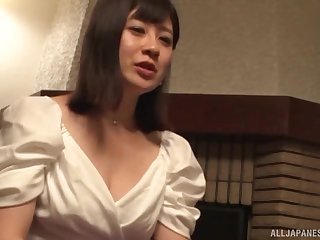 Japanese girlfriend spreads their way legs down be fucked in their way pussy